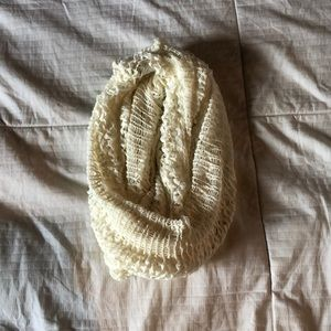 cream laced infinity scarf